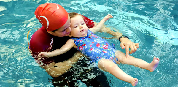 Swim lessons for babies